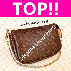 M58009 MINI POCHETTE ACCESSOIRES N58009 Iconic Fashion Womens CANVAS Pouch Evening Clutch Zippy Chain Wallet Coin Purse Phone Sling Bag
