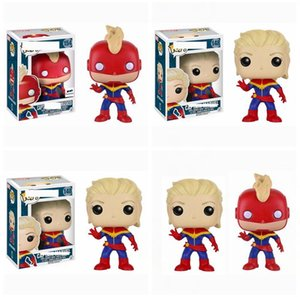 Wholesale Captain Marvel Masked Vinyl Action Figures Funko Pop Collectible Super Hero Characters Model Novelty Children kids toys AAA1922