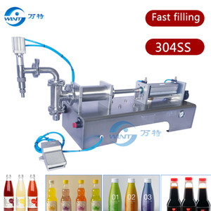 SUS304 single head pneumatic piston liquid filling machine, shampoo,cosmetic,juice, G1WYD Semi-automatic liquid filler,soy sauce,honey on Sale