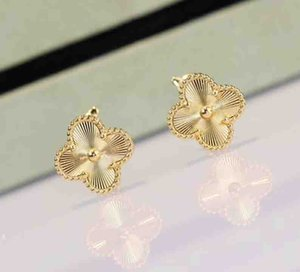 S925 Sterling Silver flower pendant earring in 18k real gold plated for women wedding gift jewelry Free Shipping PS8614
