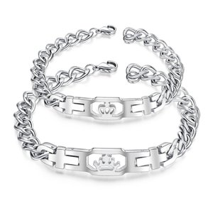 Wholesale Vintage King and Queen s Crown Love Bracelet Luxury Designer Jewelry Couple Memorial Bracelet GS1026