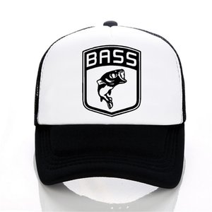 Wholesale Men Women hat Bass Fishinger Fish Bait Carp Angling Men Baseball Caps summer print letter cap Hot Selling Funny Mesh tricker