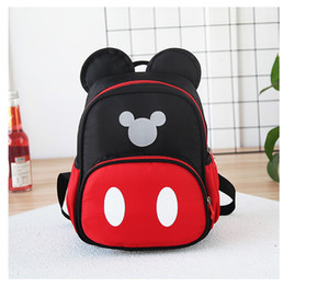 Wholesale 2 Years Baby Plush Backpack Cute Cartoon Black Red Minni the Mouse Plush Bag Soft Toy Children s School Bag