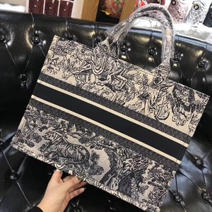 Wholesale Luxury Women Canvas Designer Book Tote Shoulder Bag High Quality Letters Print Female Casual Shopping Handbag 2019 New