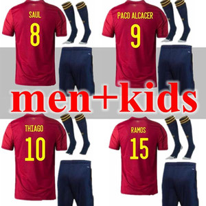 2020 2021 spain soccer jersey Adult and kids 20 21 camiseta de fútbol SERGIO A.INIESTA koke ASENSIO ramos SILVA isco cup football