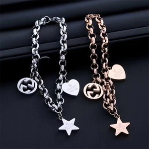 Wholesale Europe Designer Bracelets for Men and Woman gg Chain Hip hop Charm Bracelets Fashion bangle Luxury jewelry With box Best Gift
