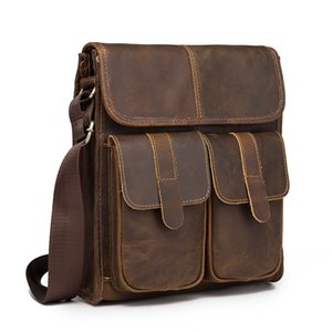 Wholesale New Fashion Quality Leather Multifunction Male Casual messenger bag Satchel cowhide quot Cross body Shoulder bag For Men db