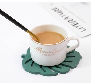 Green Leaf Shape Place Mat Heat Resistant Mat Cup Tea Coffee Coaster Cushion Placemat Pad Dinnerware Tableware Dinner Set Service Mat
