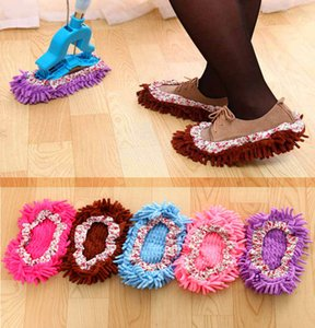Wholesale Foot Socks Creative Lazy Mopping Shoes Microfiber Floor Cleaning Mophead Floor Polishing Cleaning Cover Cleaner DHL tc190423