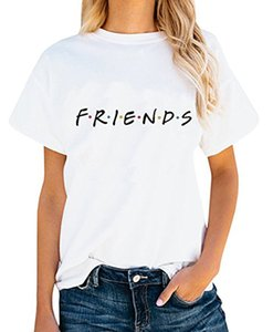 Wholesale Friends TV Show T Shirt Unisex Women s Cute Junior Tops Teen Girls Graphic Tees Summer Casual Loose Tshirt
