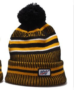 Wholesale Fashion Newest Winter Hat Designer th Anniversary Sideline Beanies Top Quality American Football teams Pom bonnet Knit Hats