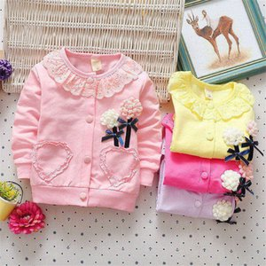 BibiCola Girls Clothing Spring Kids Girls Coats For Child Girls Flowers Cardigan Outerwear Baby Clothes Sports Jacket Outfits on Sale