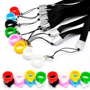 Wholesale Pod Lanyard with mm diameter Silicone Necklace Ring fit vape pen e cigarette vaporizer Pens Pods DHL Free