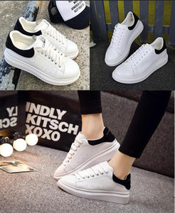 Wholesale 2020 Mens Designer shoes white leather M reflective casual for girl women black gold red fashion comfortable flat sports sneaker size