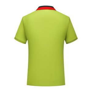 Wholesale Half sleeve lemon green SD chongfu New mercerized cotton striped collar short sleeved polo shirt men and women youth lapel POLO shirt