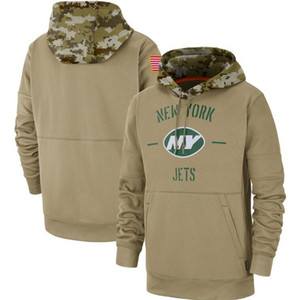 Wholesale hoodies for kids for sale - Group buy 2019 New York Sweatshirts Salute to Service Sideline Therma Performance Pullover Jet Hoodies Tan for Men WOMEN kIDS YOUTH