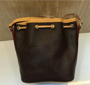Free shipping ! Fashion Leather Bucket Bags for Women Small Mini Cutout Women Messenger Bag M41346