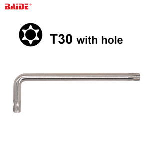 Wholesale professional driver resale online - 5 x28x90mm Torx T30 L Key Screwdriver With Hole CR V Steel Safety Screw driver Spanner for Car Professional Repair Tool
