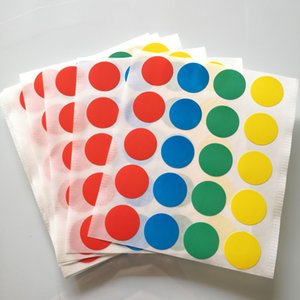 Wholesale 2000 sheets diameter mm red blue green yellow round paper sticker color dots Item No OF08