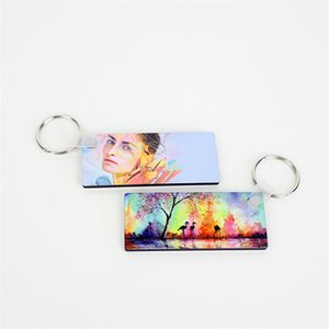 Sublimation Blank Keychain Transfer Coating Heat Transfer Blank Wood Painting Pendant DIY Key Chain Wedding Gifts