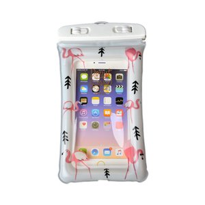 Wholesale Flamingo Airbag Design Waterproof Dry Pouch Case Transparent Universal Waterproof Mobile Phone Cover Bag For IPhone X Samsung S10 Free DHL