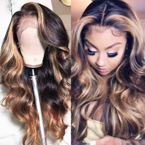 Wholesale Body Wave Blonde Brown B T27 X4 Lace Front Deep Part Human Hair Wig Density Natural Hairline with Baby Hair for Women