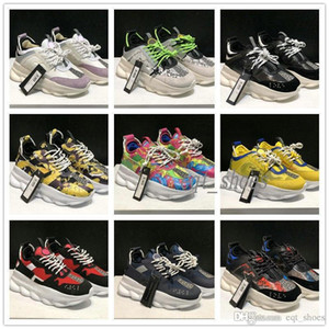 Wholesale 2020 Fashion Chain Shoes Reaction Snake Casual Designer Sneakers Best Quality Sport scarpe firmate Lightweight Link Embossed Sole Sneaker