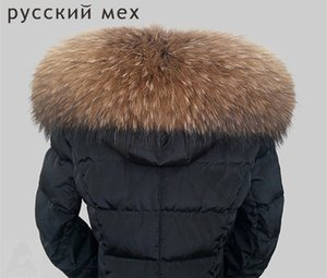 Wholesale Big Size Luxury Real Top Quality Natural Raccoon Color Women Men Fur Hooded Trimming Collar Scarf Scarves Wrap Shawl Stole