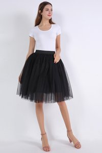 Wholesale tulle petticoat tutu skirt for sale - Group buy Rockabilly White Black Short Tulle Wedding Bridal Petticoat Crinoline Woman Tutu Skirt Wedding Accessories jupon mariage