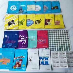 20 types White Runtz Cookies SORBET GEORGIA PIE MINNTZ YELLOW FRUIT STRIPES COOKIES California SF 3.5g Mylar Bags Pink Rozay bag