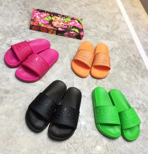 Wholesale New Fashion Women men Casual Peep Toe sandals female Leather Slippers Shoes Boys girls Luxury design flip flops shoes with box