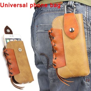 Wholesale Outdoor Leather Pouch Belt Waist Bag Phone Case Cover For Samsung Galaxy S7 S6 edge S5 S4 S3 S2 iPhone s plus inch below