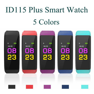 Wholesale Hot Sale For Android Apple Color Sreen ID115 Plus Smart Bracelet Watch Heart Rate Fitness Tracker Smartwatch Blue Tooth Camera Smart Watch