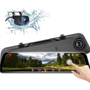Wholesale 12 quot IPS touch screen car DVR rearview dash cam stream media mirror Hi3559 chip K video double recording wide view angle