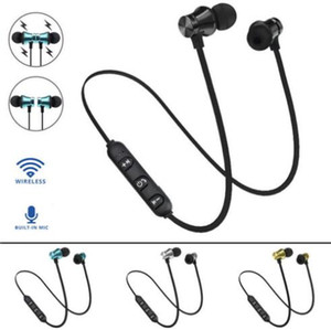 Wholesale Fashion XT11 Wireless Bluetooth headphones Sports In Ear BT Stereo Magnetic earphone headset earbud with MIc for Mobile phone