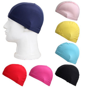 Wholesale Solid Sports Swimming Caps High Quality Quick Drying Shower Caps Fashion Men Women Unisex Comfortable