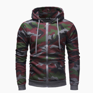 Wholesale Mens Hoodies New Personality Camouflage Series Zipper Hoodie Hoodie Casual for Men