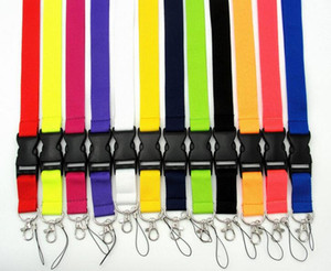 Wholesale Lot Mix 20pcs Solid color Lanyard for MP3 4 cell phone key chain lanyards
