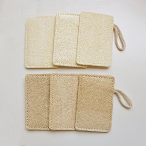 Wholesale Natural Loofah Double Sided Sewing Dishwasher Loofah with Rope Pot Pan Brush Rubbing Bath Loofah Sponge x12cm