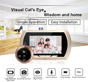 Wholesale 4.5 Inch Motion Detection Camera Video Smart Cat Eyes Door Viewer Suitable for Home Office Hotel