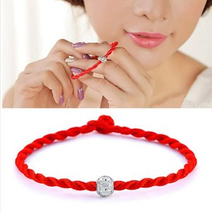 Wholesale Fashion Charm Bracelet Ethnic Silver Plated Bead Braided Friendship Red Rope Bracelet Unisex Lucky Wrist Decor For Women Men