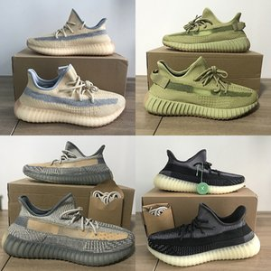 PK Version Shoe Sulfur Asriel Zyon Linen Reflective Designer Shoes Israfil Running Sneaker Triple Black Women Men Kanye West Luxury Air Flax