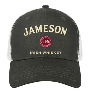 Wholesale Womens Mens Plain Adjustable Jameson Irish Whiskey Logo Punk Hip Hop Cotton Baseball Cap Golf Cadet Army Caps Airy Mesh Hats For Men Women B
