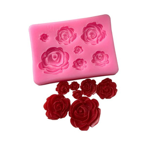 Creative rose sugar molds, silicone lace mold, DIY fondant cake mold chocolate candy mold kitchen baking utensils