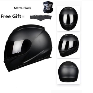 Full Face Motorcycle Street Bike Helmet with Removable Winter Neck Scarf DOT (M, Matte Black) XXXL 65cm on Sale