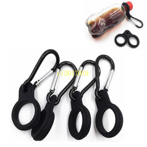 Water Bottle Holder With Hang Buckle Carabiner Clip Key Ring Fit Cola Bottle Shaped Silicone Carrier