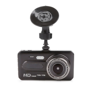 "4"" touch screen car DVR 1080P driving dashcam 2Ch video camera double lens 170°+120° wide view angle night vision G-sensor parking monitor"