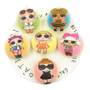 Wholesale Surprise GirlS Squishy Ball Slow Rising Cartoon Squishies Toy Noval Simulated Bread Press Relief Gift Decompression Toys