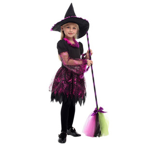 Wholesale tv magic for sale - Group buy HUIHONSHE High Quality Children s Halloween Cosplay Playing Anime Magic Witch Clothes Girls Pettiskirt Witch Costumes