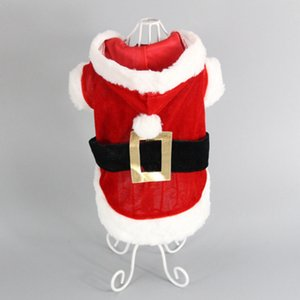 Wholesale 2019 New Creative Red Hat Pet Dog Clothes Santa Claus Pet Christmas Clothes Acrylic Fabric Dog Clothes